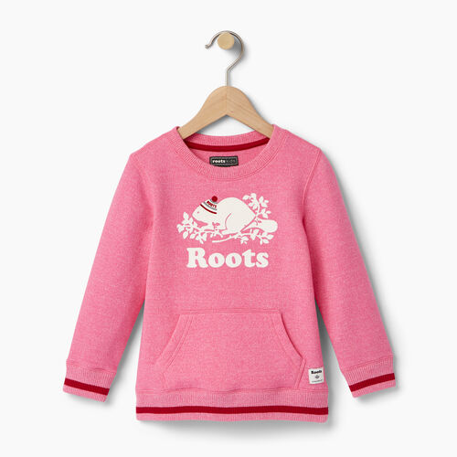 Roots-Kids Tops-Toddler Buddy Crew Sweatshirt-Pink Pepper-A