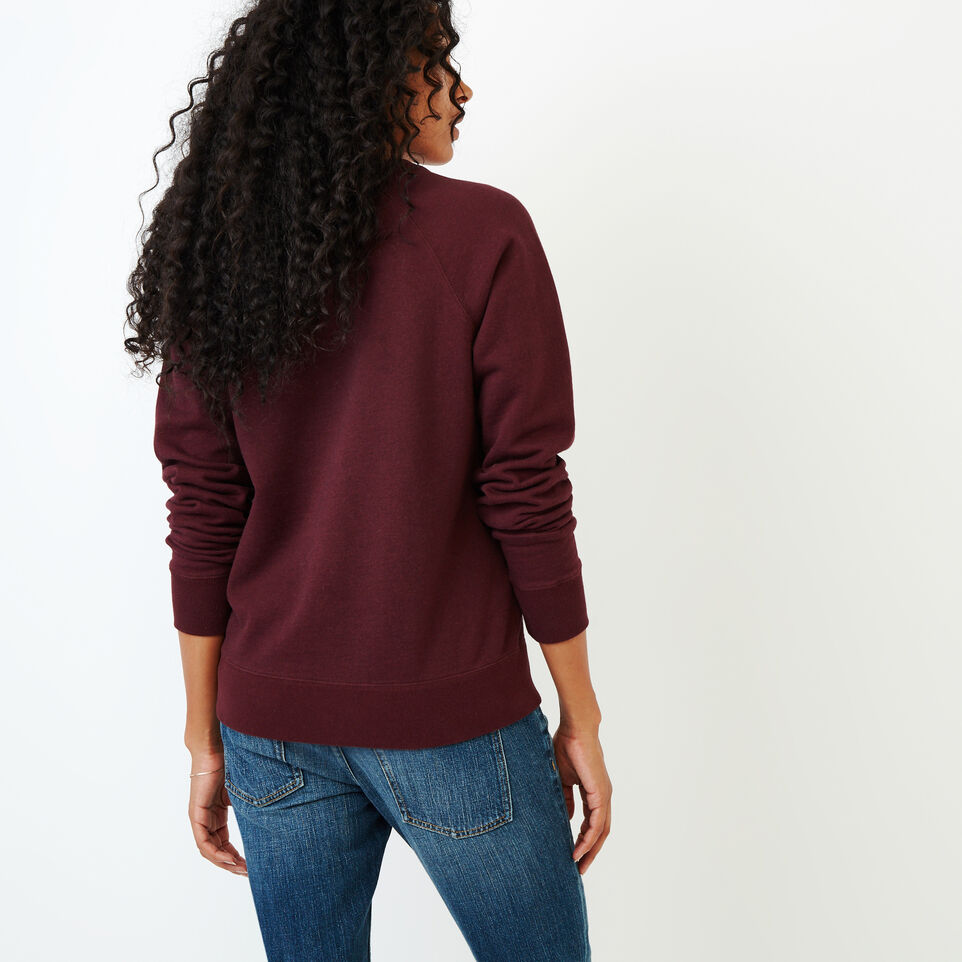 Roots-Women Our Favourite New Arrivals-Vault Relaxed Crew Sweatshirt-Crimson Mix-D