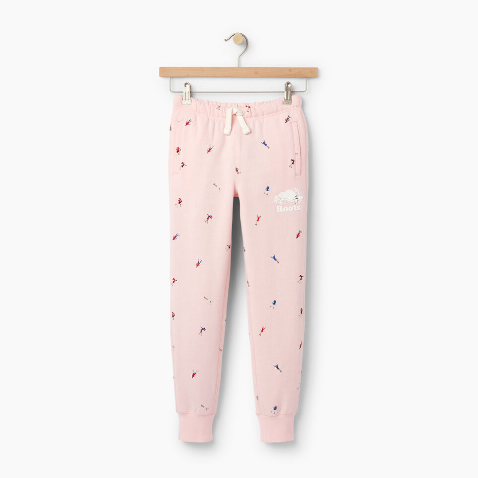 Roots-Kids Our Favourite New Arrivals-Girls Skater AOP Sweatpant-Light Pink-A