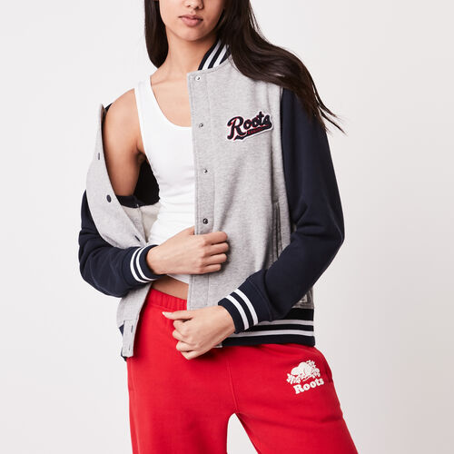 Roots-Sale Jackets & Sweaters-Roots Varsity Jacket-Grey Mix-A