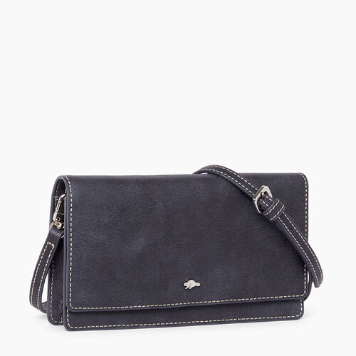 Roots-Winter Sale Leather Bags & Accessories-Evening Wallet Bag Tribe-Dark Navy-A