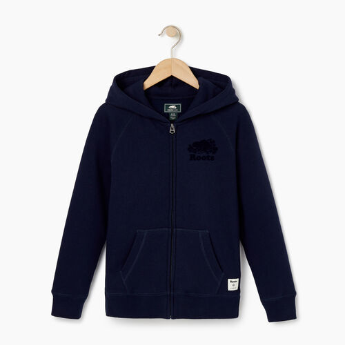 Roots-Kids Our Favourite New Arrivals-Girls Original Full Zip Hoody-Navy Blazer-A