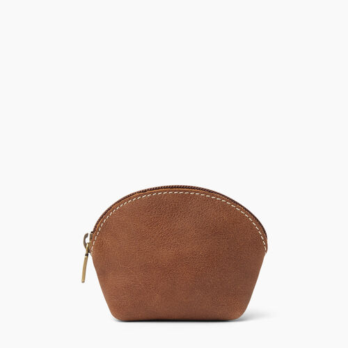 Roots-Women Leather Accessories-Small Euro Pouch-Natural-A