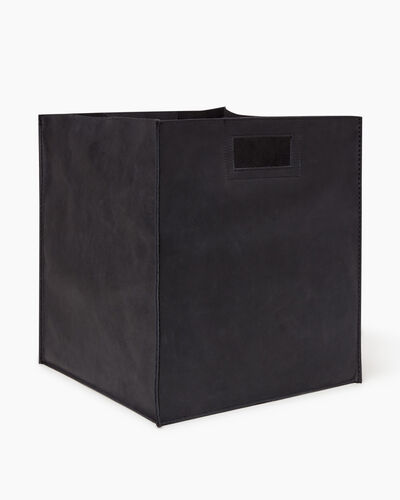 Roots-Articles En Cuir Maison Roots-Panier ultra-grand en cuir Tribe-Noir De Jais-A