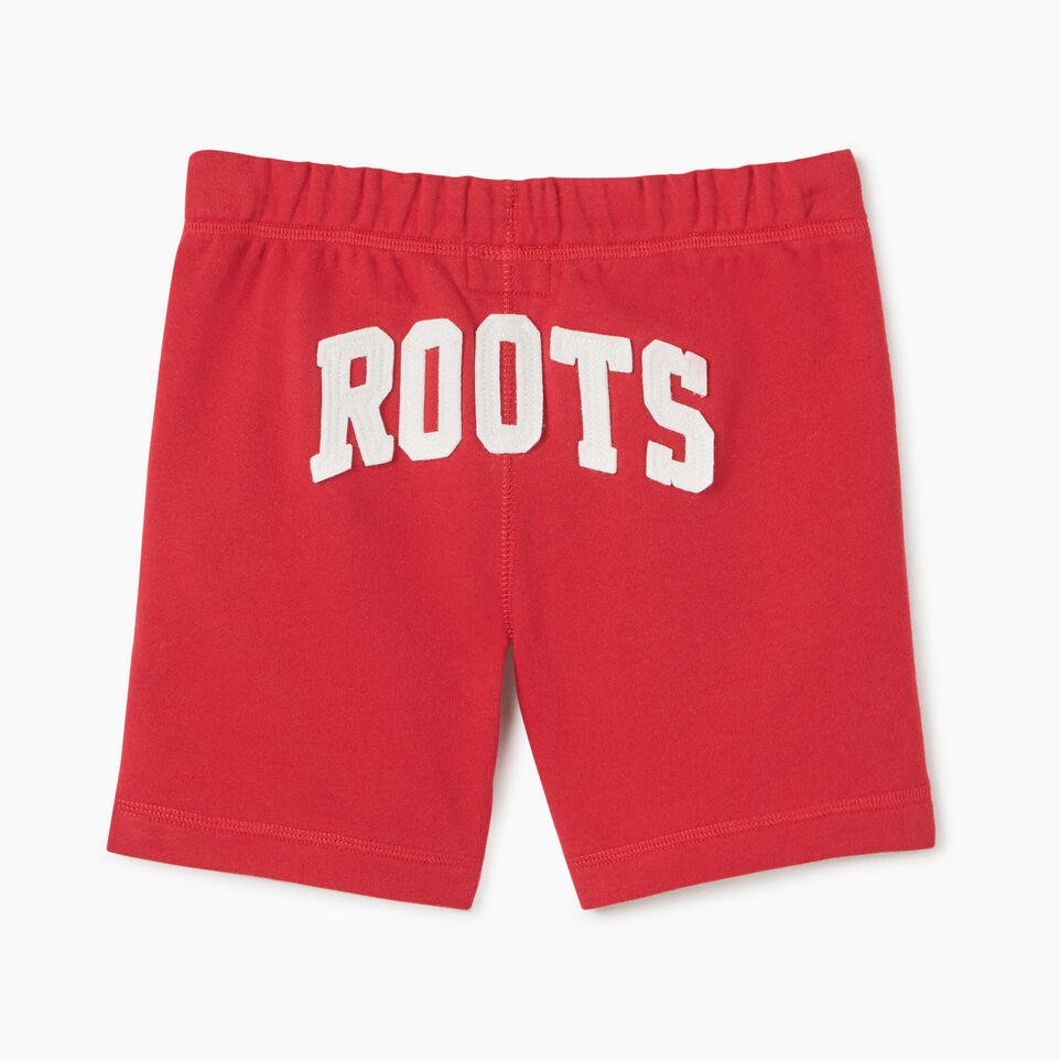 Roots-Kids Canada Collection-Girls Canada Short-Sage Red-B