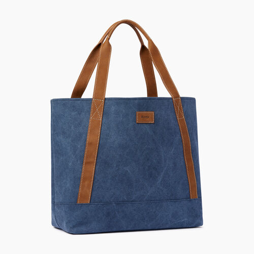 Roots-Women Bags-Muskoka Tote Canvas-Navy-A