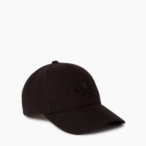 Roots-Men Accessories-Modern Leaf Baseball Cap-Black-A