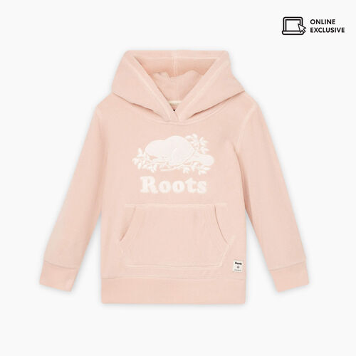Roots-Sweats Toddler Girls-Toddler Sherpa Kanga Hoody-Crystal Pink-A