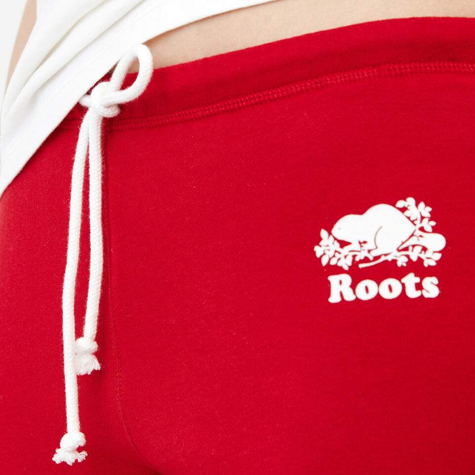 Roots-Women Our Favourite New Arrivals-Tyne Capri-Sage Red-E