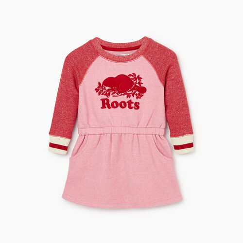 Roots-Sale Baby-Baby Roots Cabin Cozy Dress-Cashmere Rose Pepper-A