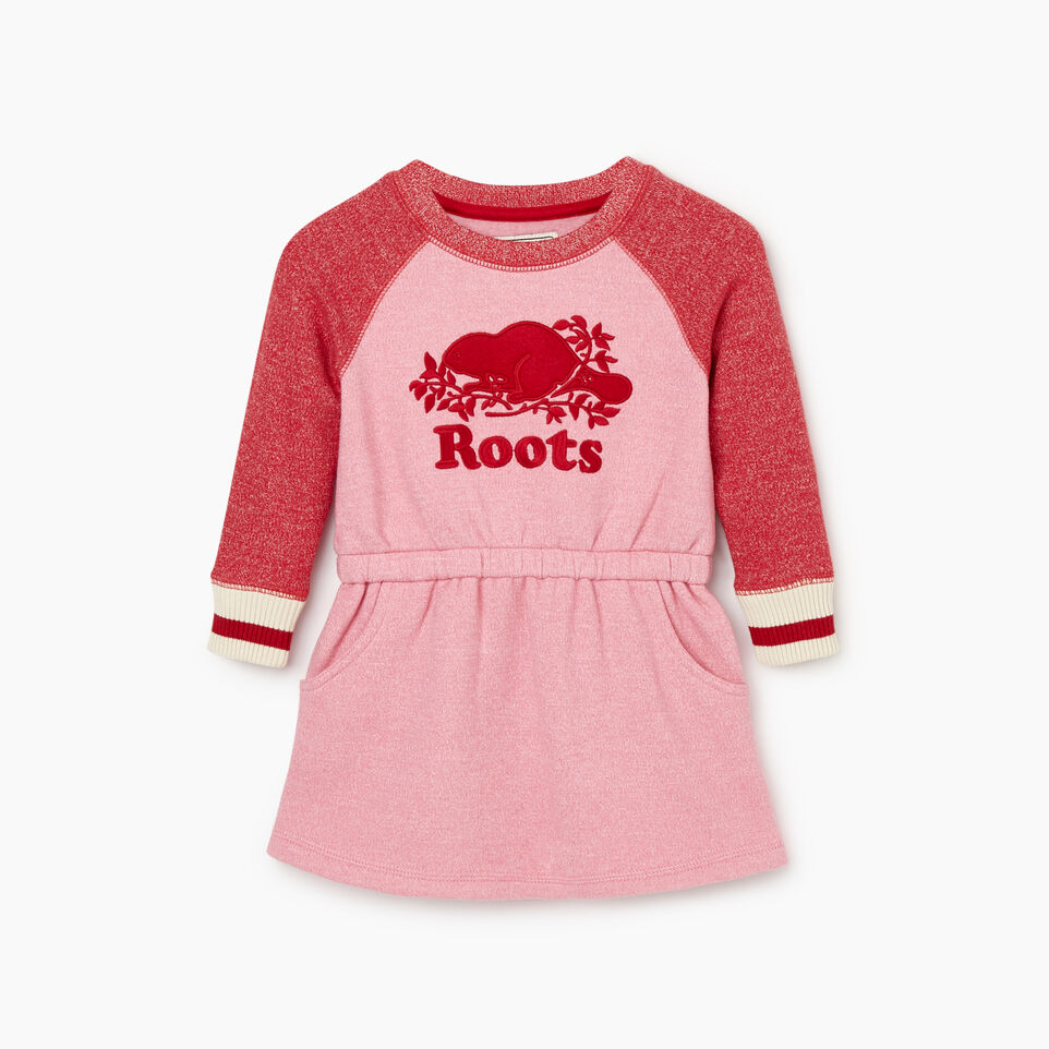 Roots-Kids Baby Girl-Baby Roots Cabin Cozy Dress-Cashmere Rose Pepper-A