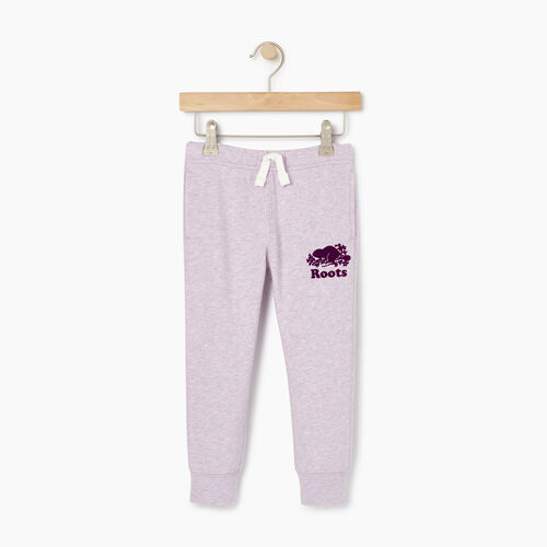 Roots-Kids Bottoms-Toddler Slim Cuff Sweatpant-Lupine Mix-A