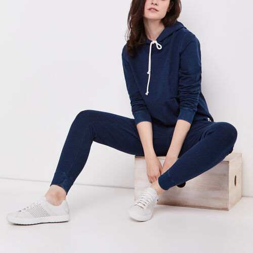 Roots-Women Categories-Nimes Pullover Hoody-Indigo-A