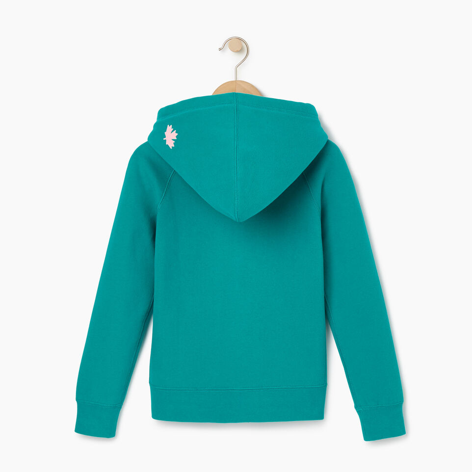 Roots-Kids New Arrivals-Girls Original Full Zip Hoody-Dynasty Turquoise-B