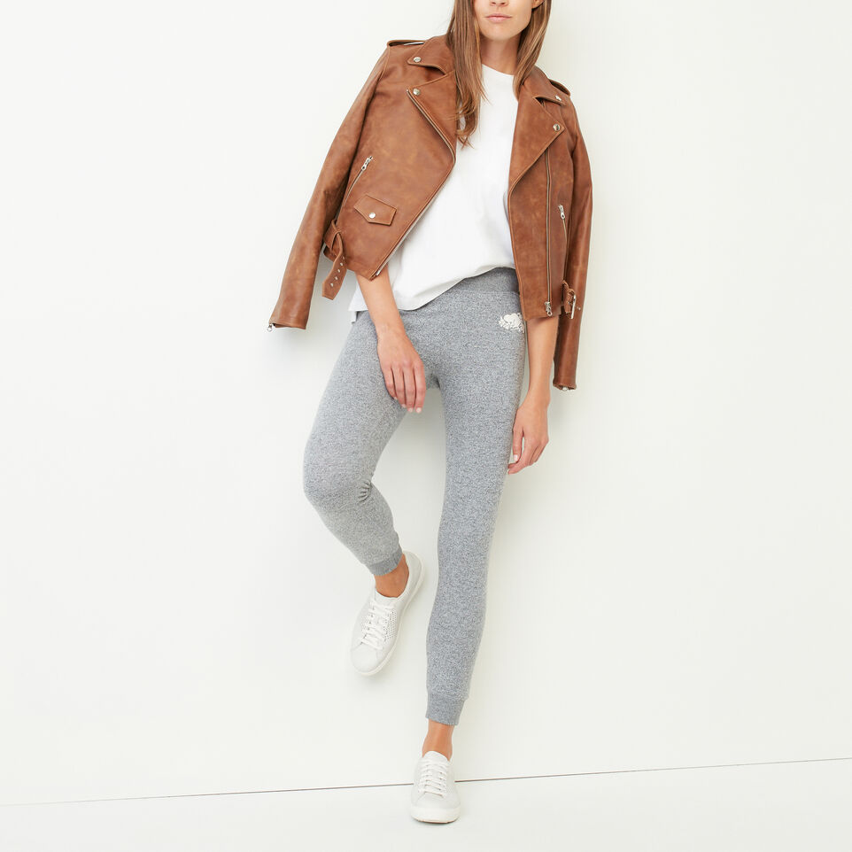 Roots-Leather Leather Jackets-Moto Jacket Tribe-Natural-B