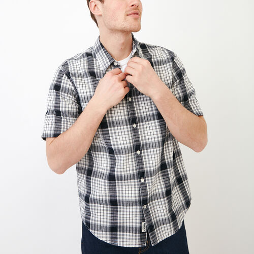 Roots-New For June Plaids-Mackenzie Shirt-Ivory-A