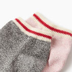 Roots-Women Socks-Womens Cotton Cabin Ped Sock 2 pack-Pink-C