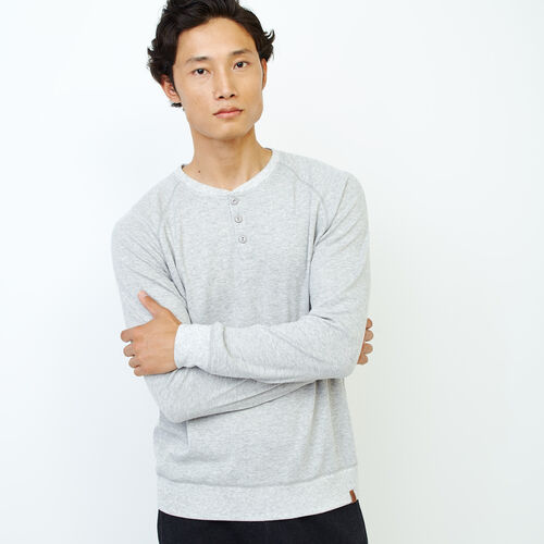 Roots-Men Our Favourite New Arrivals-Cozy Thermal Henley-Grey Mix Pepper-A