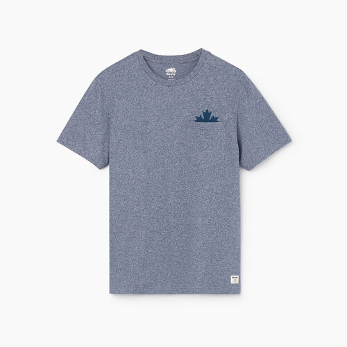 Roots-Men New Arrivals-Mens Maple Pocket T-shirt-Cascade Blue Pepper-A