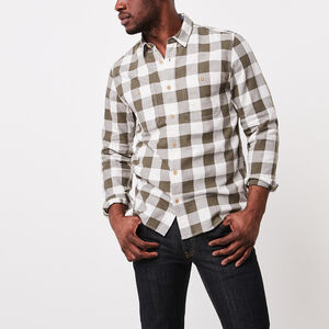 Roots-New For March Men-Battleford Shirt-Duck Green Mix-A