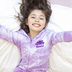 Roots-Kids New Arrivals-Girls Original Full Zip Hoody-African Violet-A