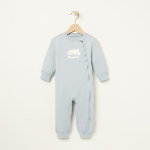 Roots-Sale Kids-Baby Original Cooper Beaver Romper-Celestial Blue-A