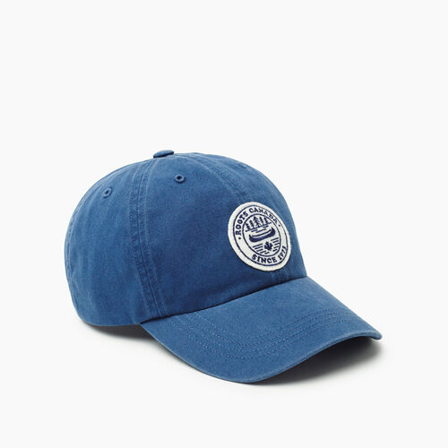 Roots-Men New Arrivals-Badge Baseball Cap-Navy-A
