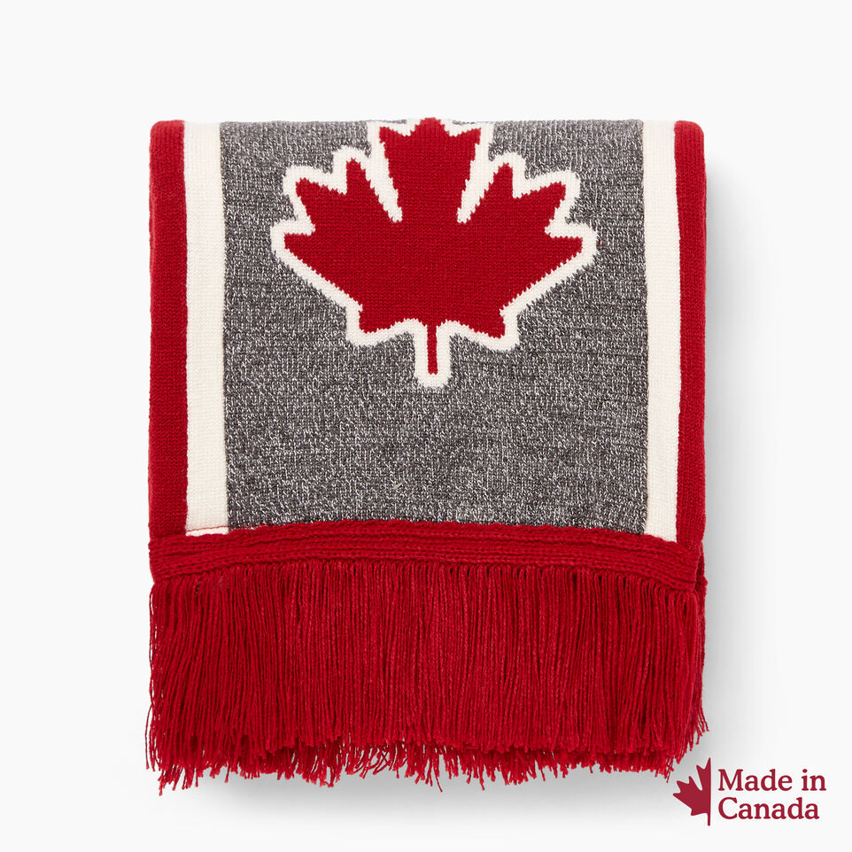 Roots-Men Canada Collection By Roots™-Canada Fan Scarf-Red-A
