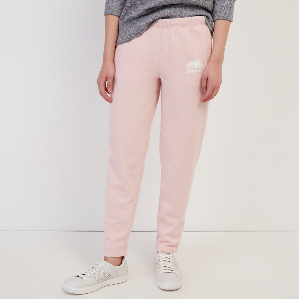 Roots-Sweats Sweatpants-Easy Ankle Sweatpant-Silver Pink Pepper-A