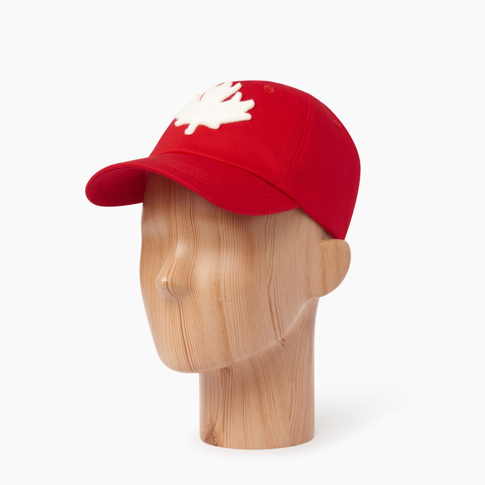Roots-Clearance Kids-Toddler Canada Baseball Cap-Red-B
