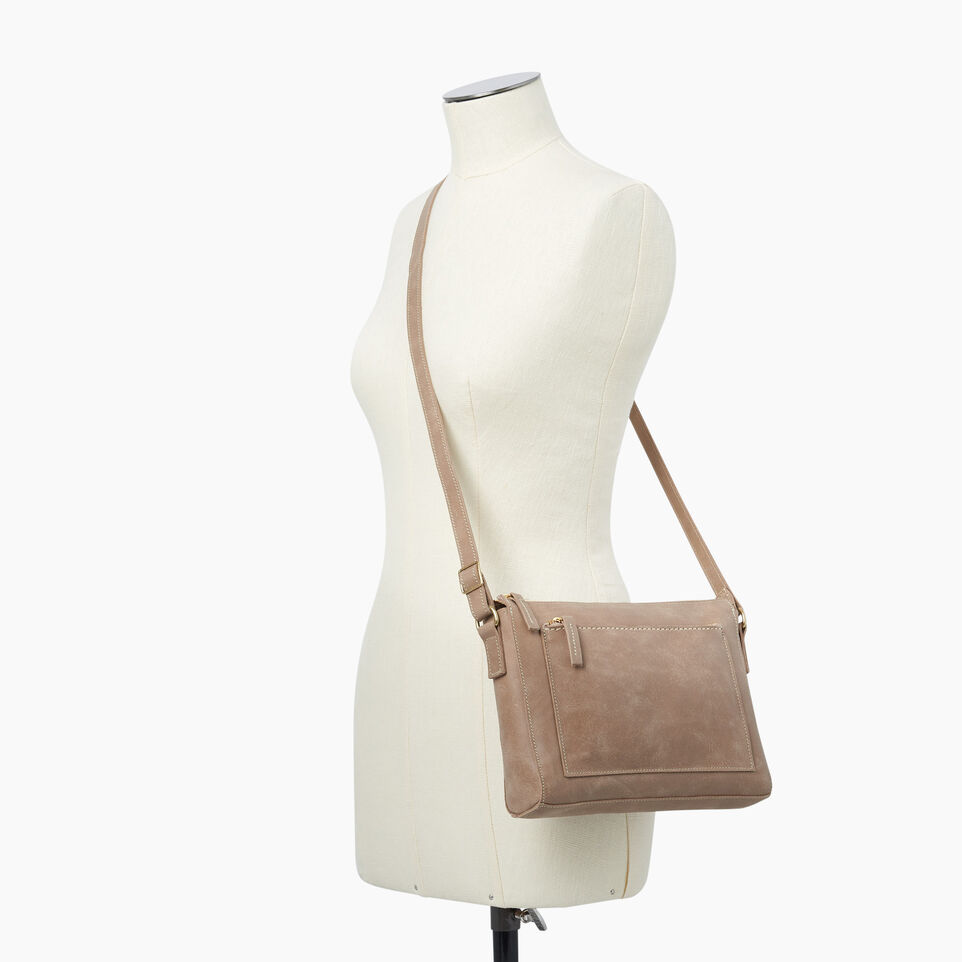 Roots-Leather  Handcrafted By Us Handbags-Robson Bag-Sand-B