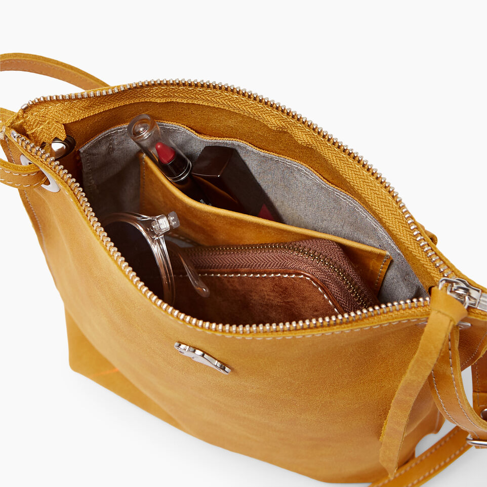 Roots-Leather  Handcrafted By Us Handbags-Festival Bag Tribe-Squash Yellow-E