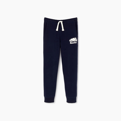 Roots-Kids Sweats-Boys Park Slim Sweatpant-Navy Blazer-A