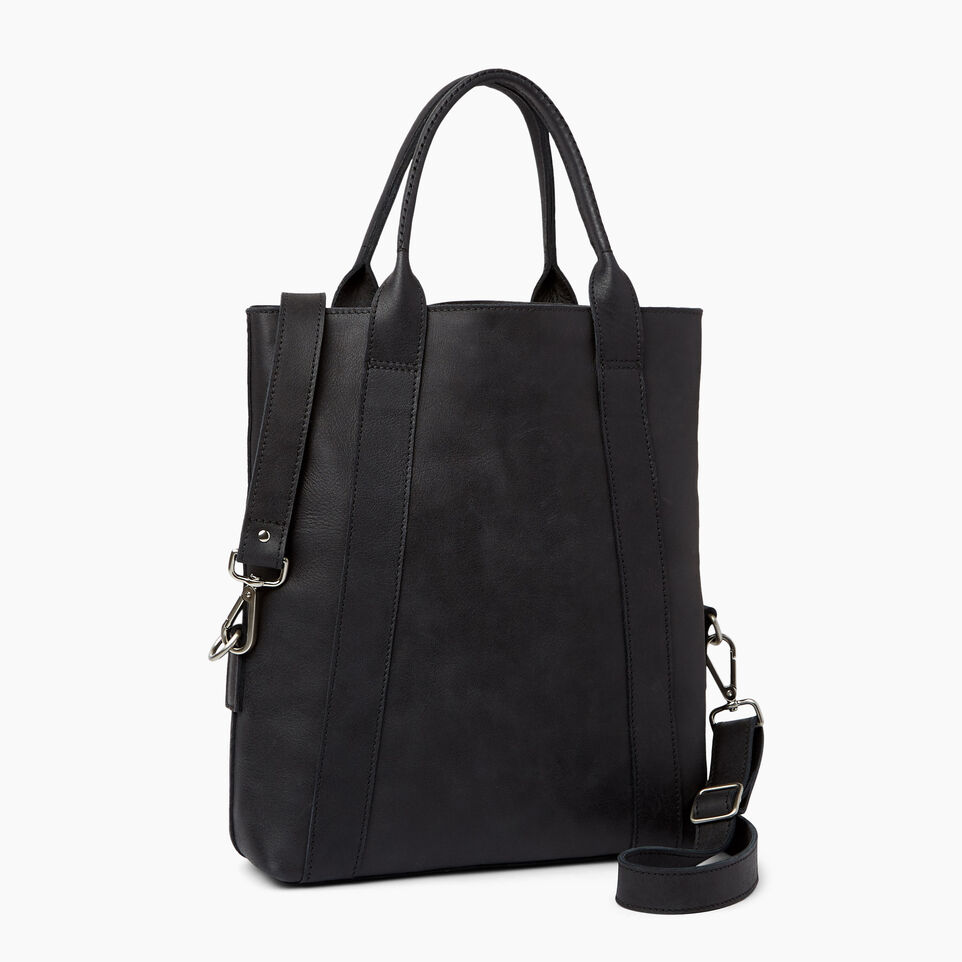 Roots-Leather  Handcrafted By Us Handbags-Annex Tote-Jet Black-C