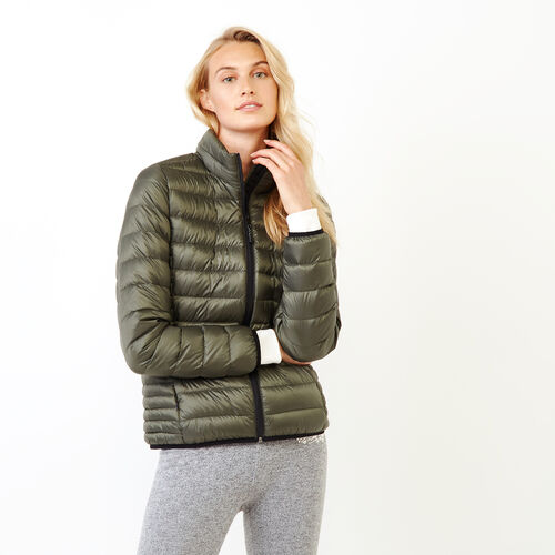 Roots-Women Outerwear-Roots Slim Packable Jacket-Loden-A