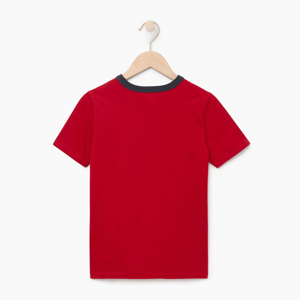 Roots-Kids Our Favourite New Arrivals-Boys Cooper Canada Ringer T-shirt-Sage Red-B