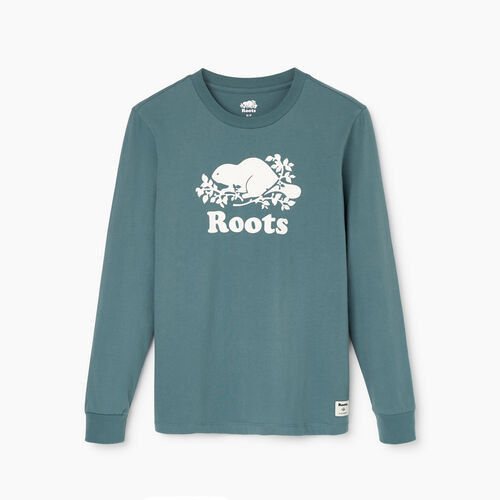Roots-Women Our Favourite New Arrivals-Womens Cooper Beaver T-Shirt-North Atlantic-A