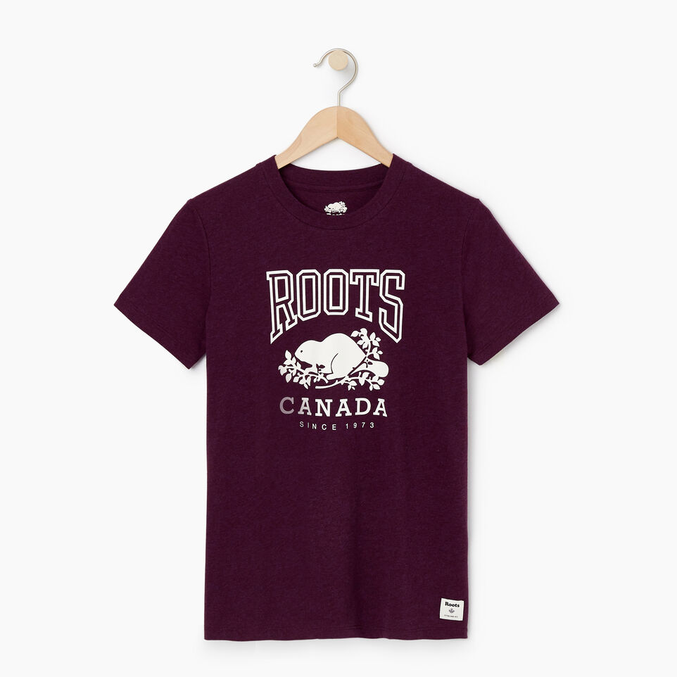 Roots-Women Clothing-Womens Classic Roots Canada T-shirt-Pickled Beet Mix-A