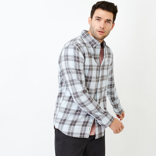 Roots-Men Shirts & Polos-Graveley Plaid Shirt-Iron Gate-A