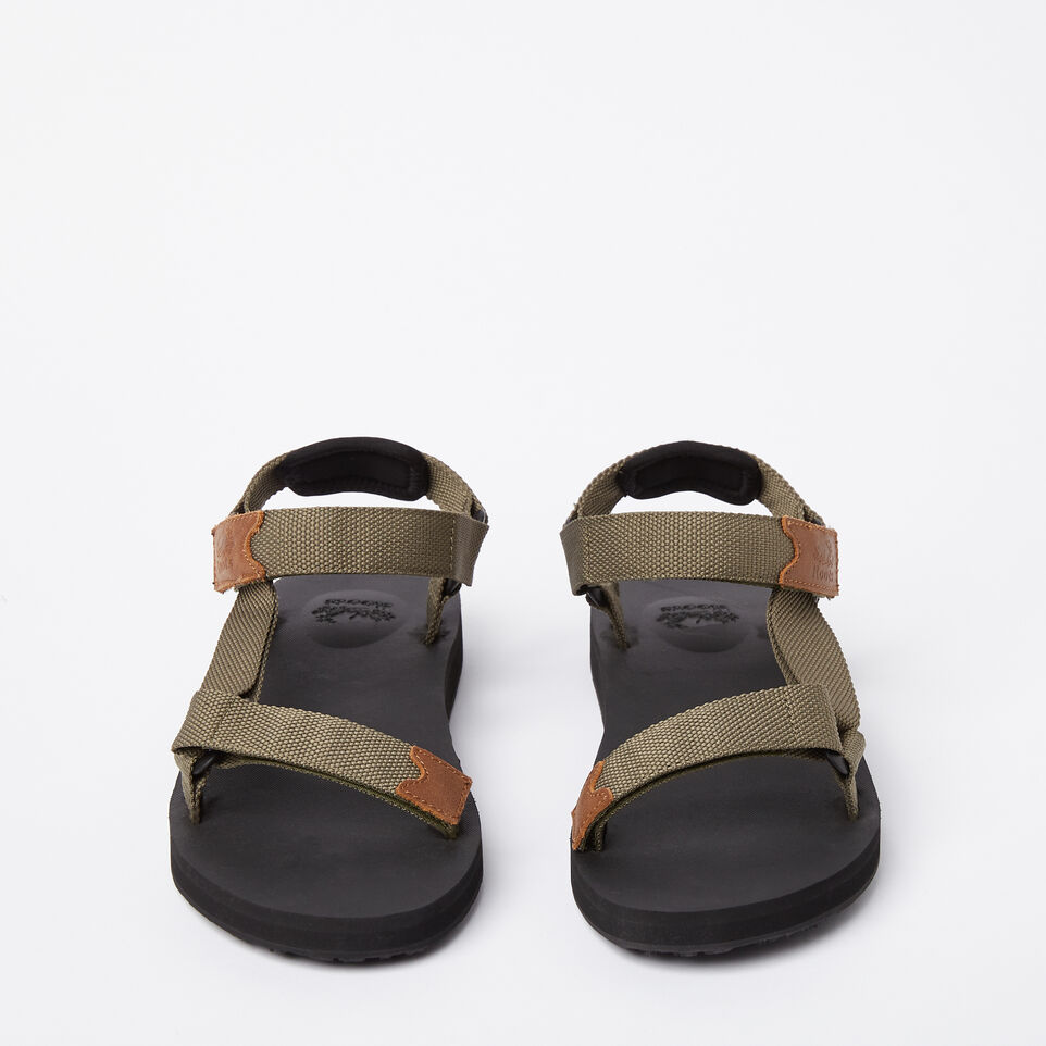 Roots-Clearance Footwear-Mens Tofino Sandal Web-Fatigue-D