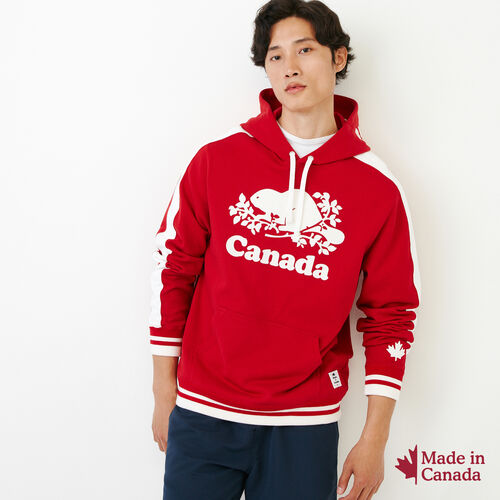 Roots-Men Our Favourite New Arrivals-Canada Hoody-Sage Red-A