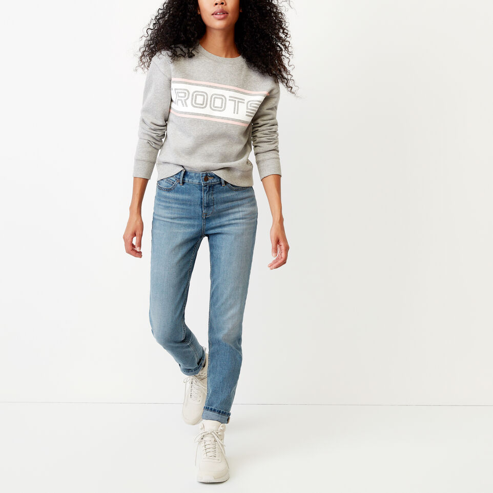Roots-undefined-Ribbon Crew Sweatshirt-undefined-B
