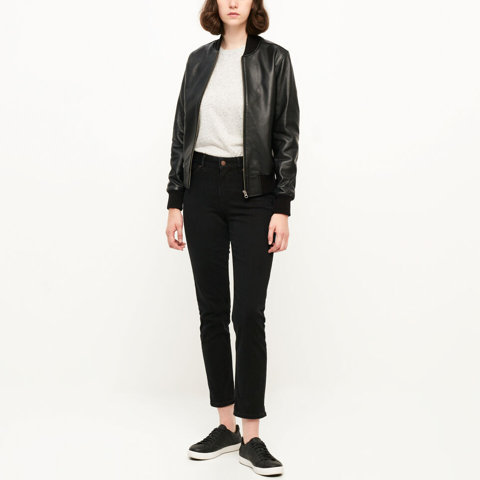 Roots-undefined-Blouson style aviateur en cuir Lake-undefined-B
