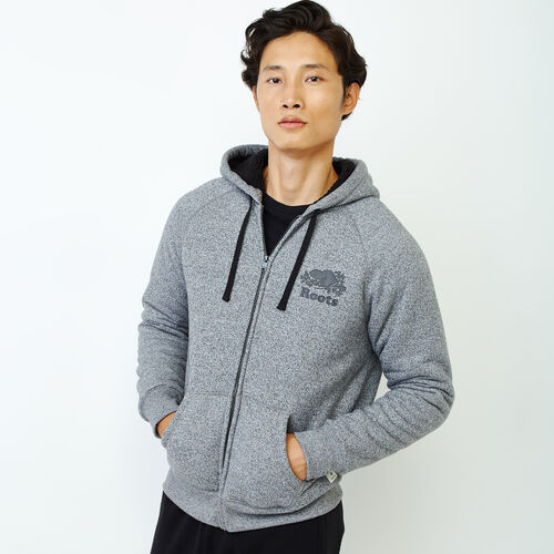 Roots-Clearance Men-Mt. Dawson Zip Hoody-Salt & Pepper-A