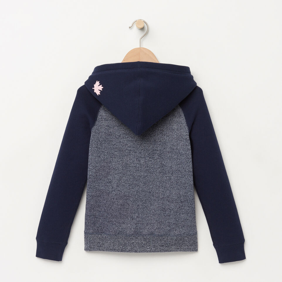 Roots-Winter Sale Kids-Girls Original Kanga Hoody-Navy Blazer Pepper-B