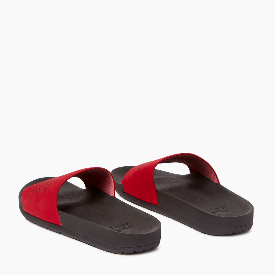 Roots-Footwear Our Favourite New Arrivals-Mens Long Beach Pool Slide-Chili Pepper-E