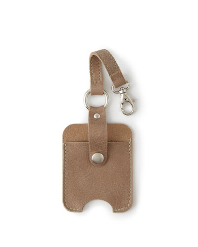 Roots-Men Leather Accessories-Hand Sanitizer Holder 2.0-Sand-A