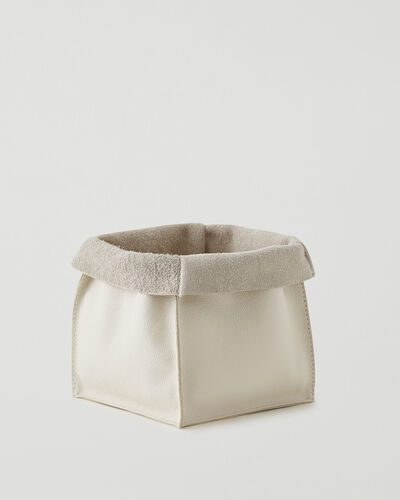 Roots-Leather Leather Accessories-Large Leather Basket Cervino-Ivory-A