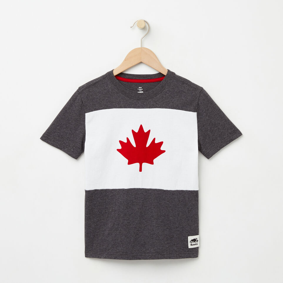 Roots-undefined-Boys Blazon Maple T-shirt-undefined-A