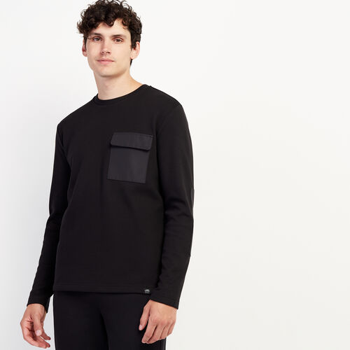 Roots-New For November Journey Collection-Journey Pocket Long Sleeve Top-Black-A